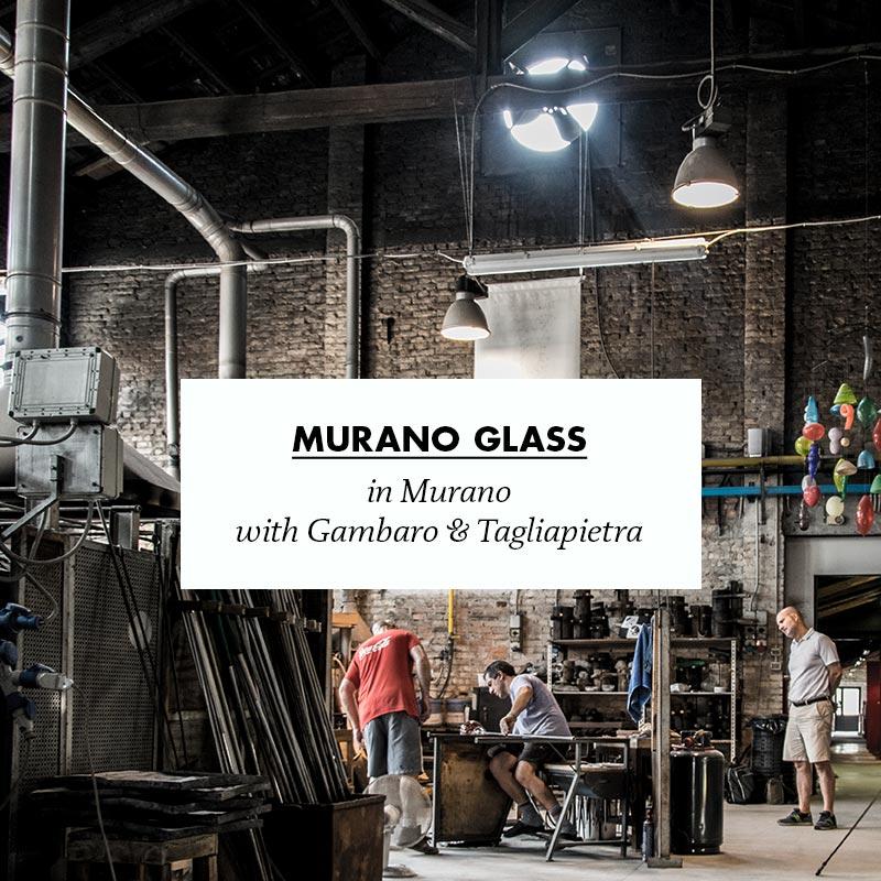 making of archetipo glass in murano