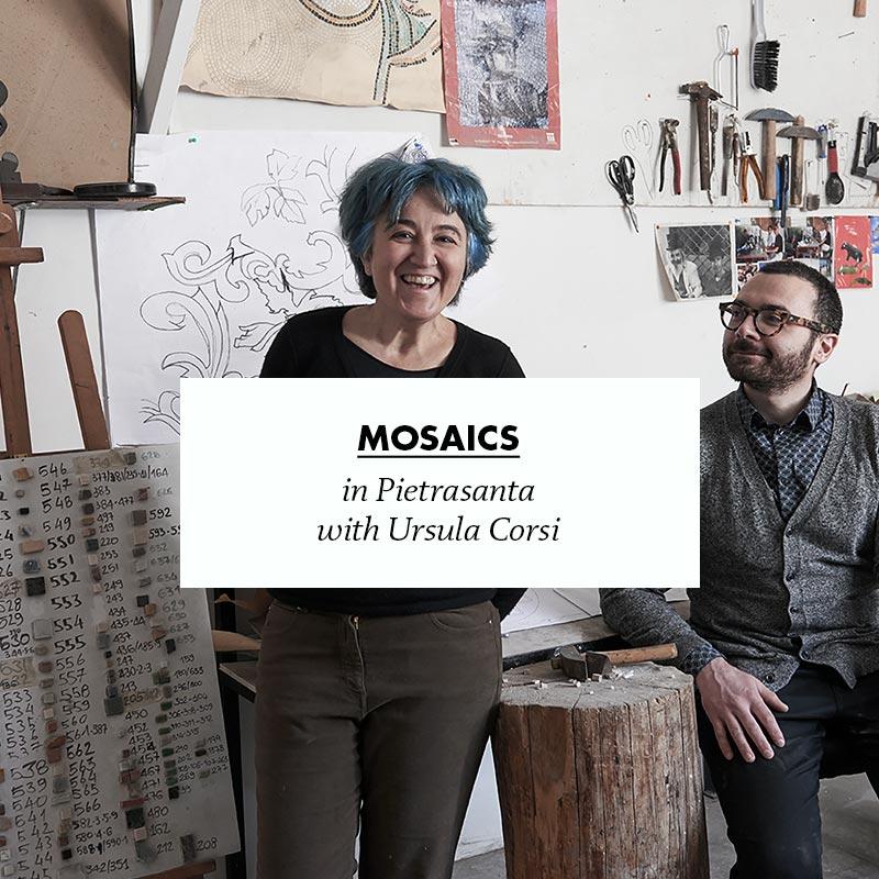 making of flore mosaics in pietrasanta