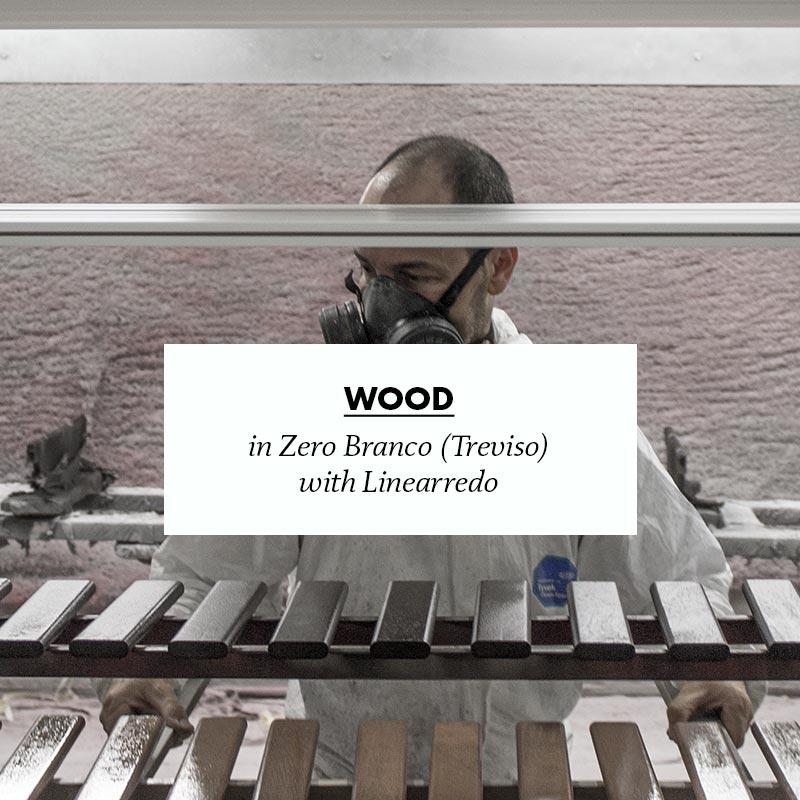 making of pagliolo wood in zero branco