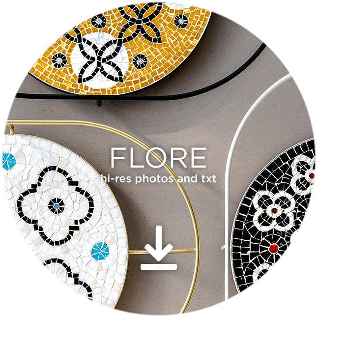 presskit flore mosaic trays
